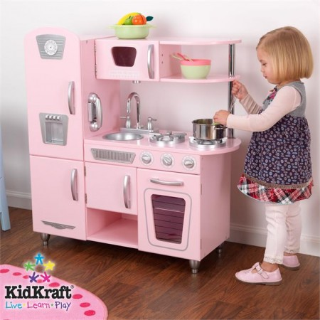 Csn stores review kidkraft pink vintage kitchen deal for Kitchen set for babies