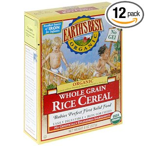 Earths best organic rice cereal