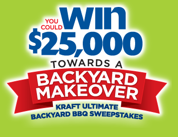 Kraft Ultimate Backyard Bbq Sweepstakes Win 25 000 For A